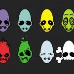 Image of the complete mudokon emoticon set
